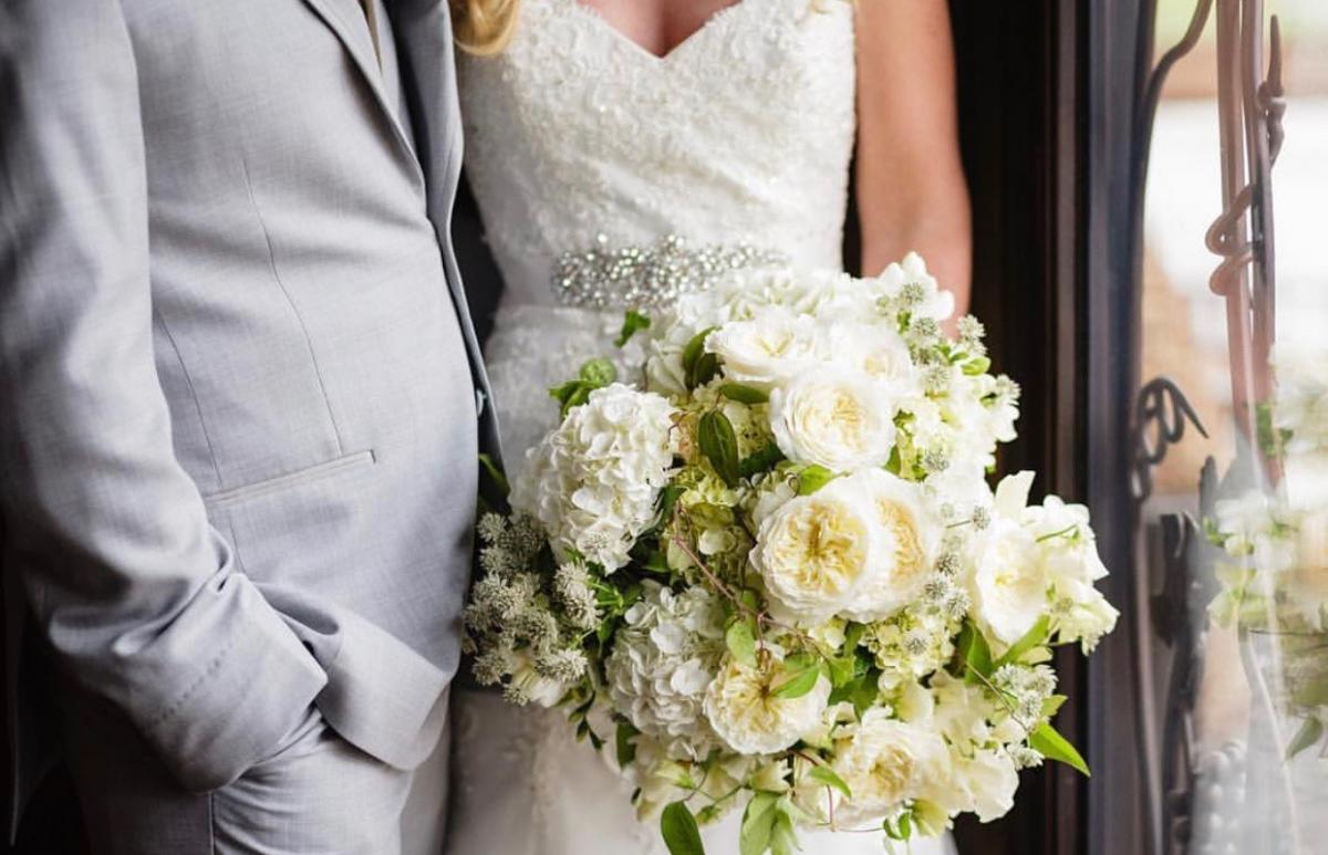 Bright White Bridal Bouquet