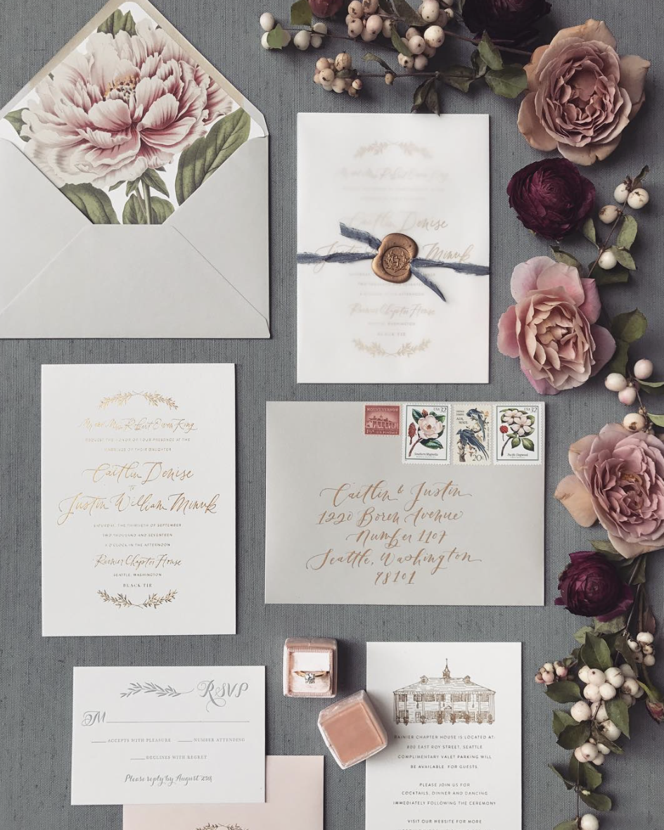 The Suite Life: 9 Stunning Wedding Invitation | Seattle Bride