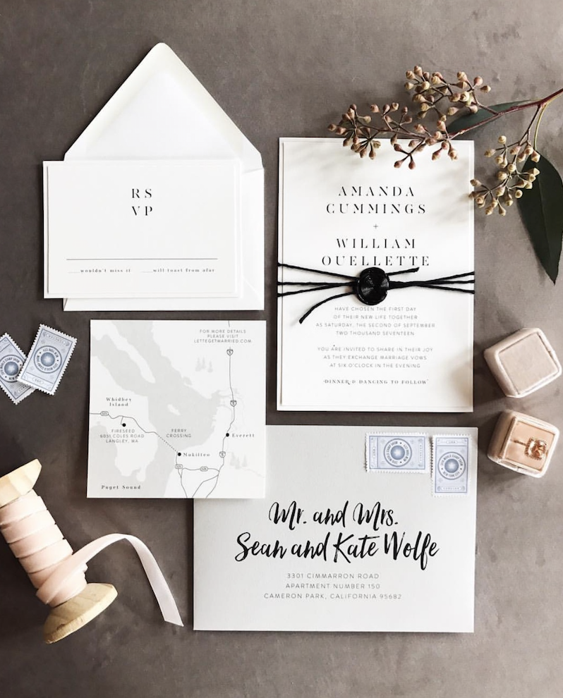 Photo by Matthew Land Studios, Invitation by Shop Spruce