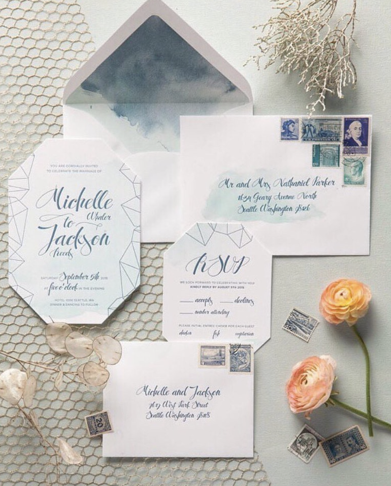 Invitation by Sugarcomb, Photo from Fleurt Weddings