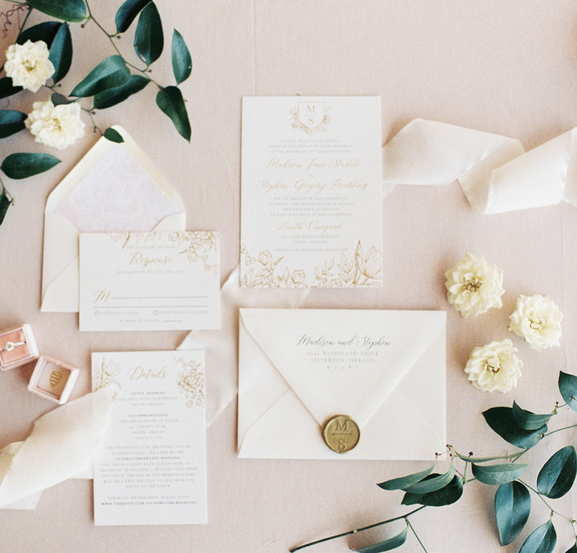 Photo by Jami Rae Photo, Invitation by Letters & Dust, Styling by Swoon Event Design, Planning by Class Act Events