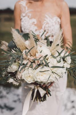 Textural Bridal Bouquet