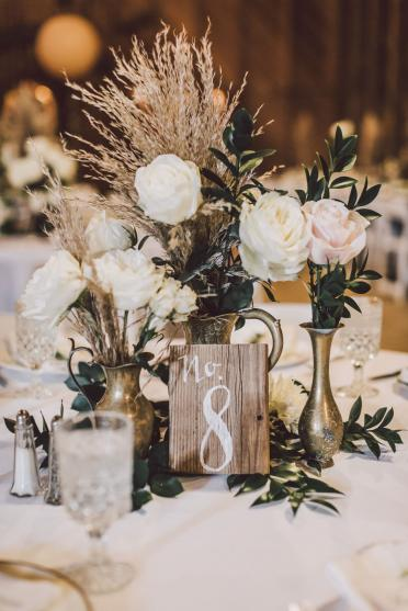 Textural Floral Centerpieces, Wedding