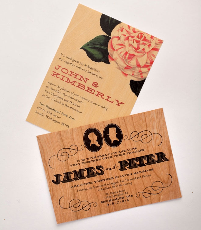 wood you marry me wooden wedding invitations